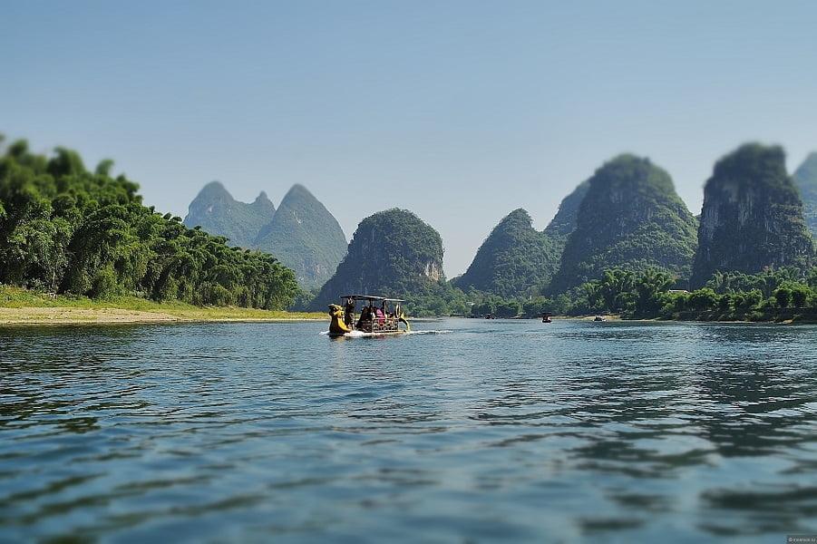 Экскурсионные туры в Гуйлинь. Виды на реке Ли