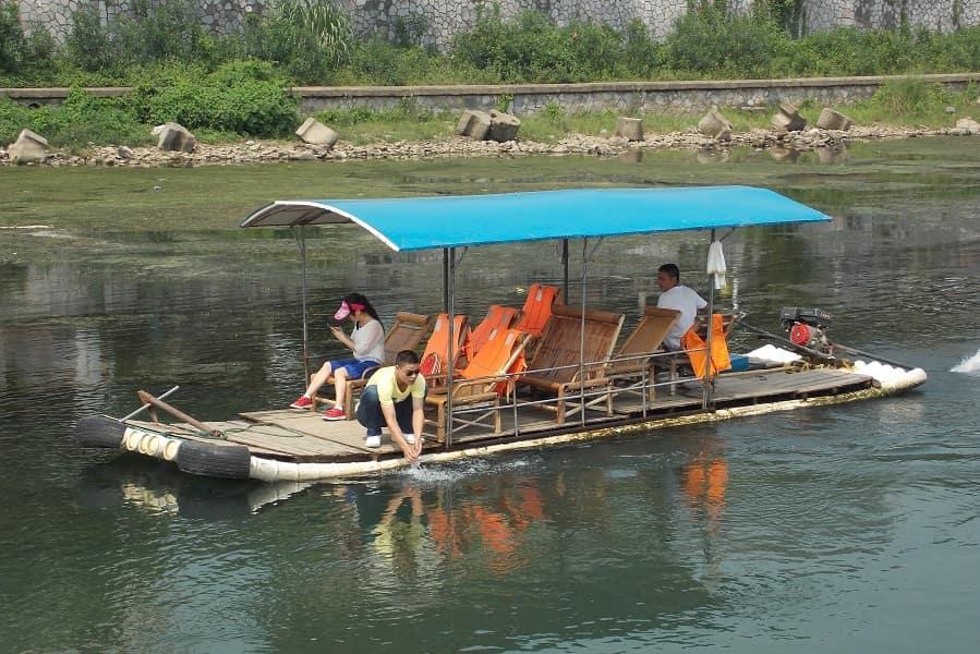 Индивидуальные туры в Гуйлинь. Плот на реке Ли