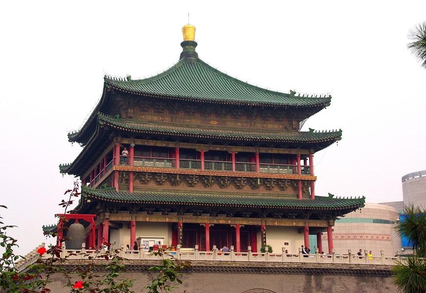 Путевка в Китай. Сиань. Вид на Барабанную башню
