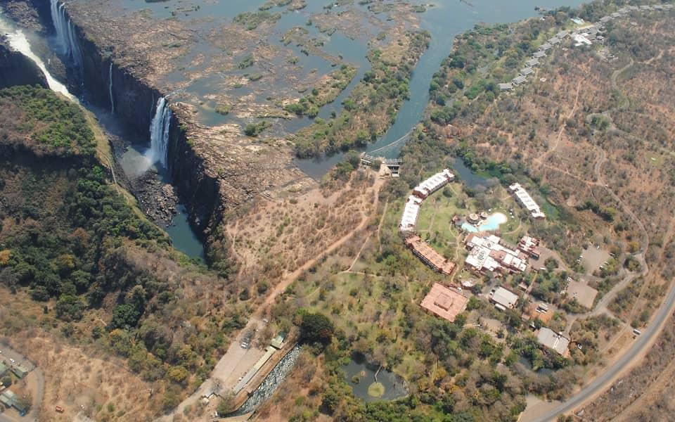 Экскурсионные туры в Замбию. Фото с вертолета
