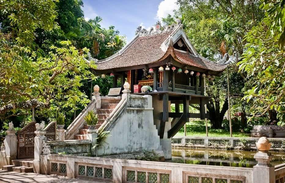 Экскурсионные туры во Вьетнам. Ханое. Пагода на одном столбе