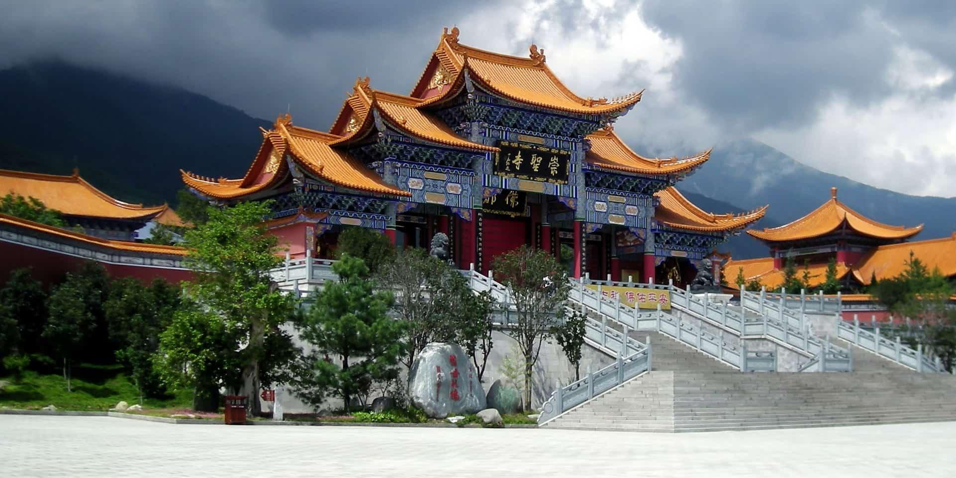 Китай, храм Три Пагоды, город Дали