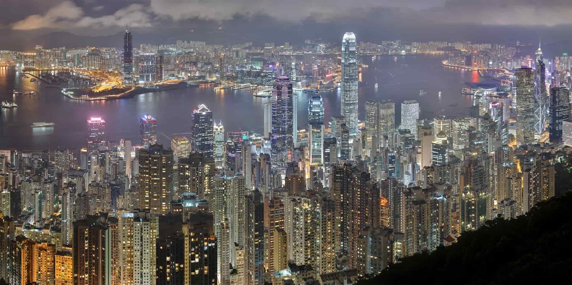 Ночной Гонконг фото