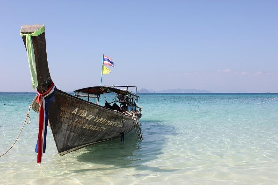 Отдых на острове Краби. Тайланд. Типичная Лодка
