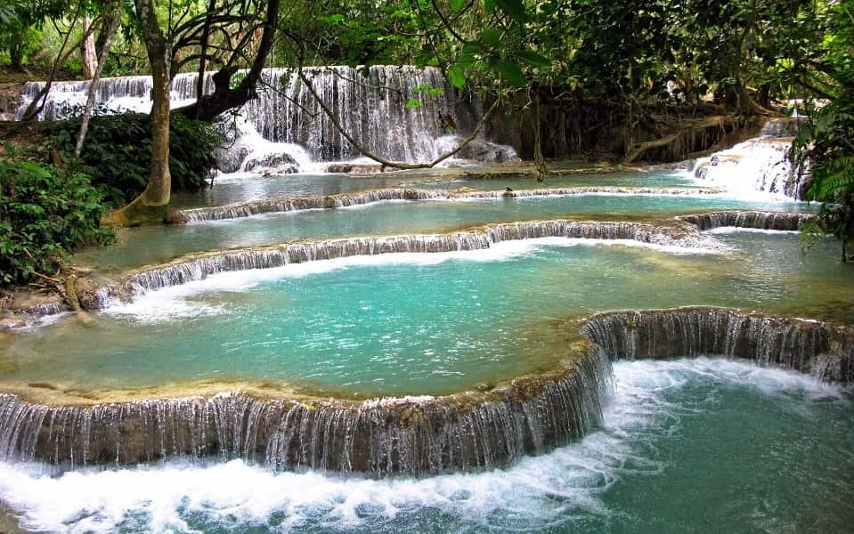 Отдых в Лаосе. Водопад Куанг Си