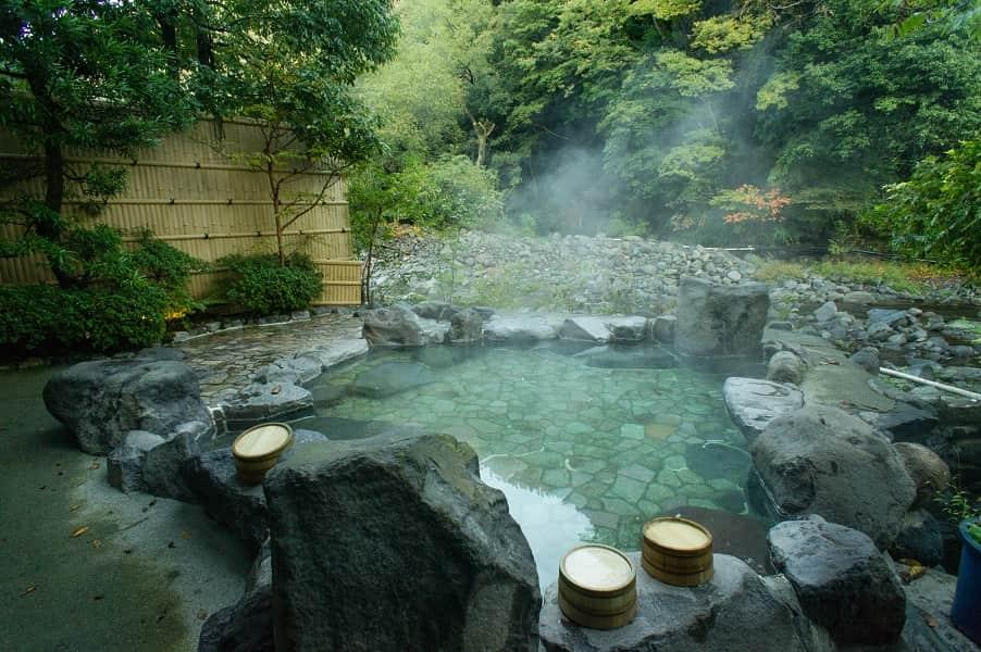 Отдых в Японии. Горячие источники фото