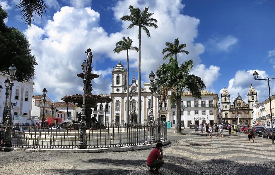 Поездка в Бразилию. Сальвадор. Центральная площадь