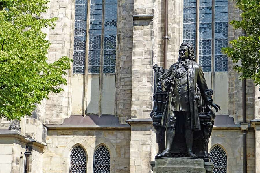 Поездка в Германию. Лейпциг. Памятник Баху фото