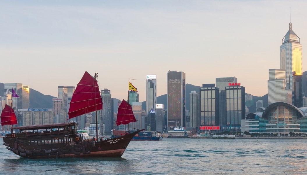 Поездка в Гонконг. Гавань Виктория фото