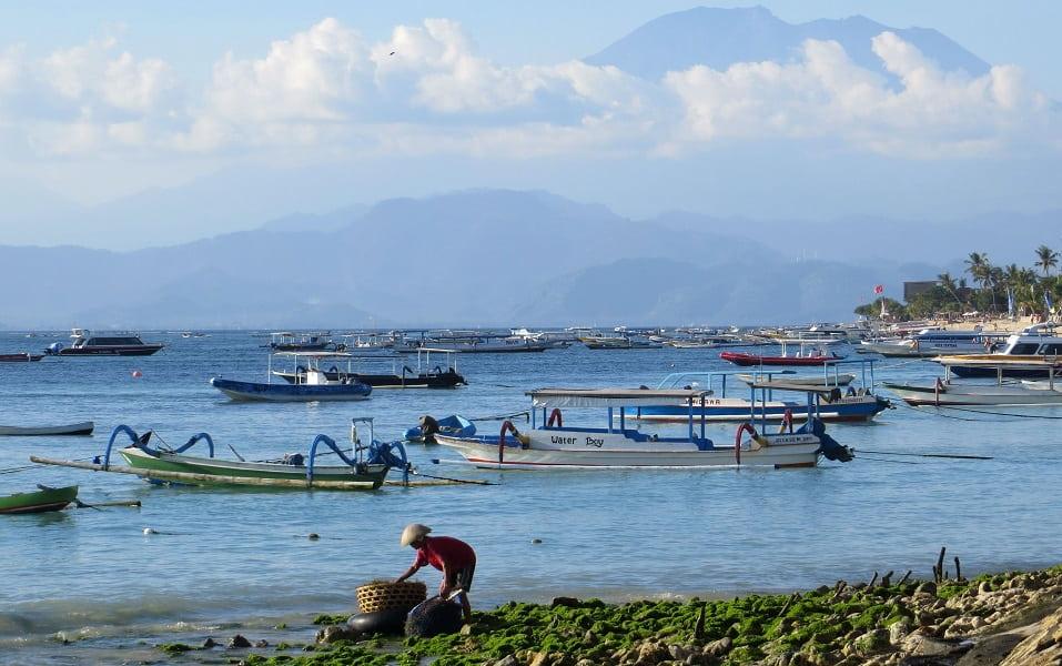 Поездка в Индонезию. Нуса Лембонган. Ферма водорослей