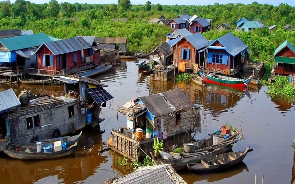 Поездка в Камбоджу. Экскурсия по озеру Тонле Сэп