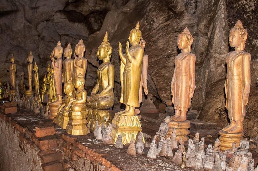Поездка в Лаос. Будды в пещере Пак У