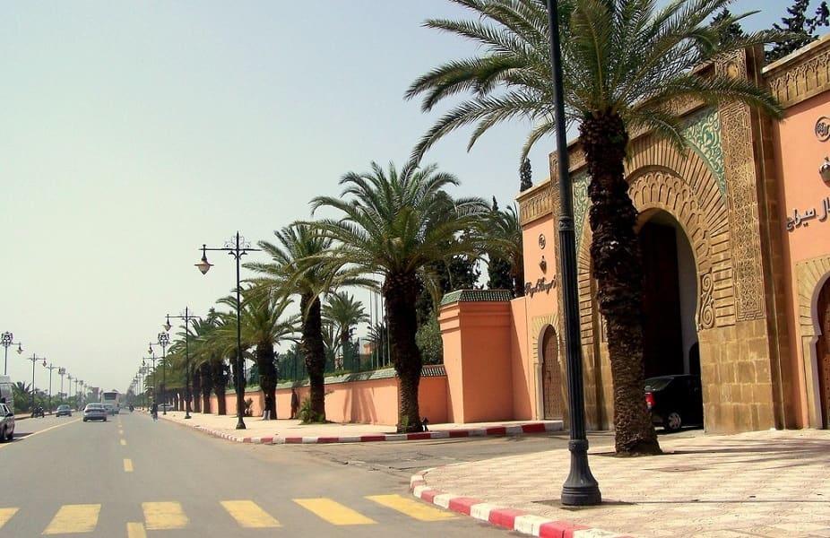 Поездка в Марокко. Эссувейра. Улица и пальмы