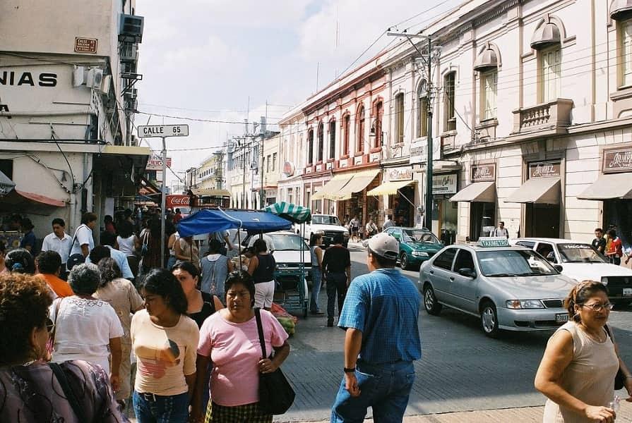 Поездка в Мексику. Мерида. Улицы города