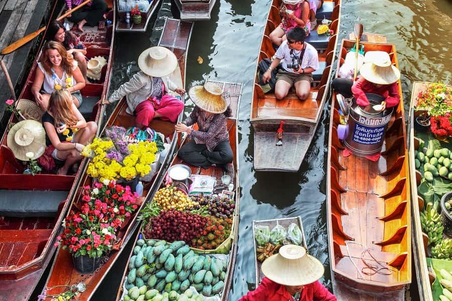 Поездка в Тайланд. Бангкок. Плавучий рынок