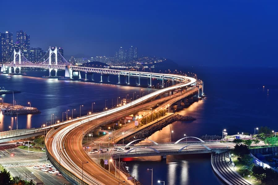 Путешествие по Корее. Пусан. Мост Кванан тэгё