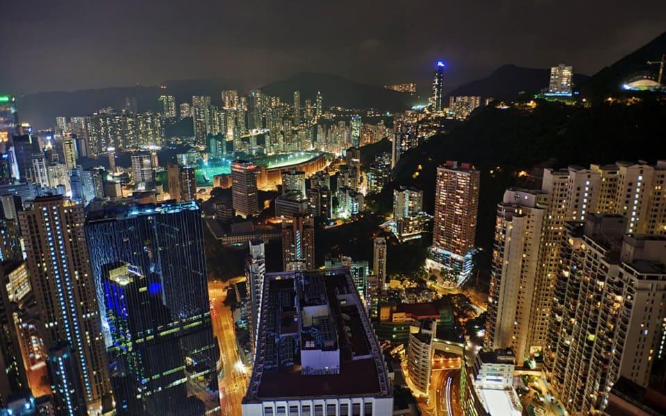 Путешествие в Гонконг. Ночной город фото