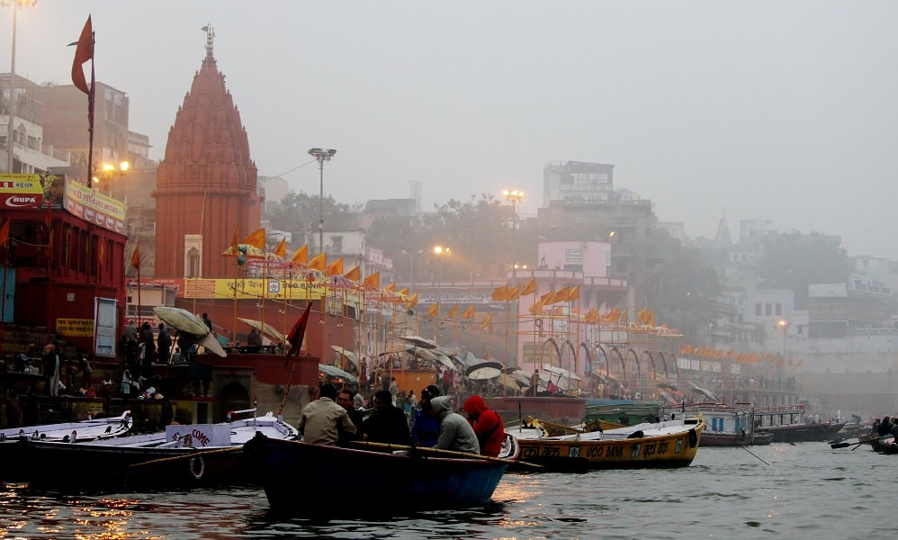 Путешествие в Индию. Варанаси. Фото. Туман