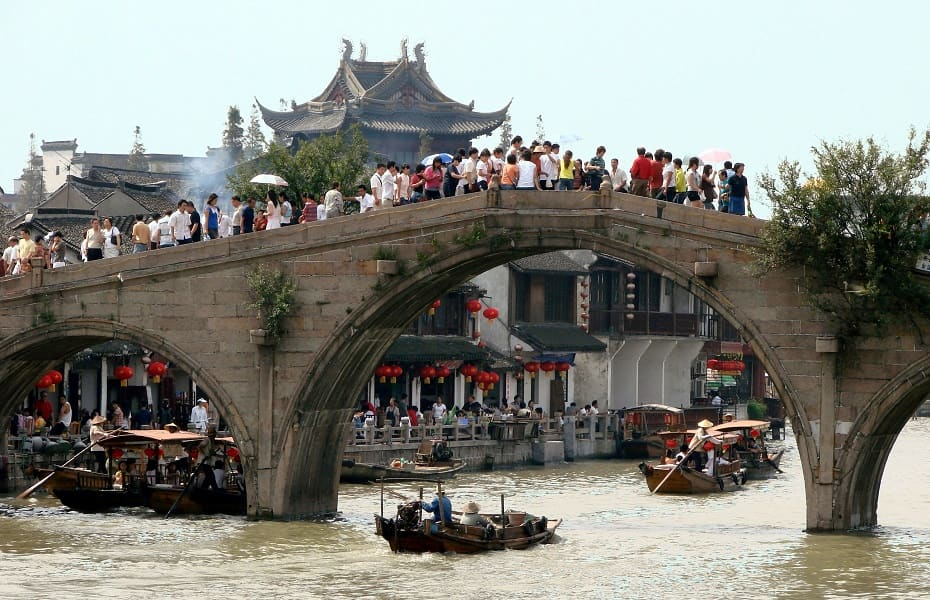 Путешествие в Китай. Лицзянь. Мост через реку Ли фото