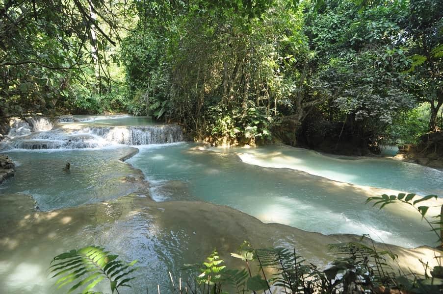 Путешествие в Лаос. Экскурсия к водопаду Куанг Си