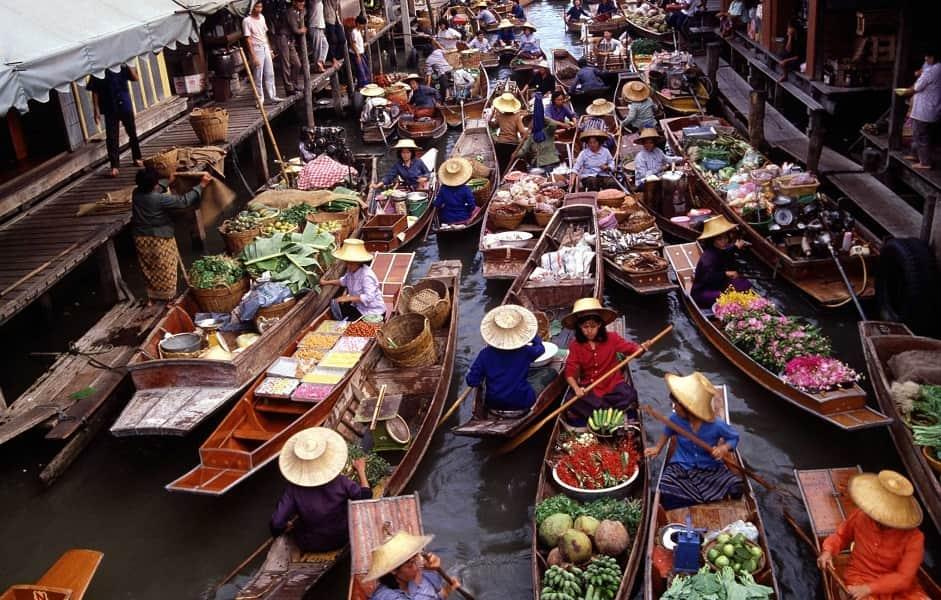 Путешествие в Тайланд. Плавучий рынок Дамноен садуак