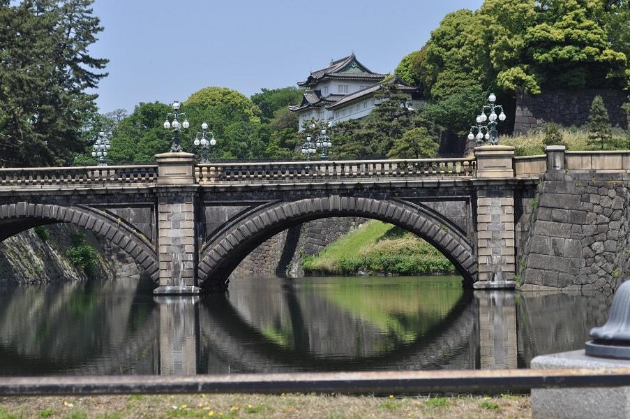 Поездка в Токио мост возле императорского дворца