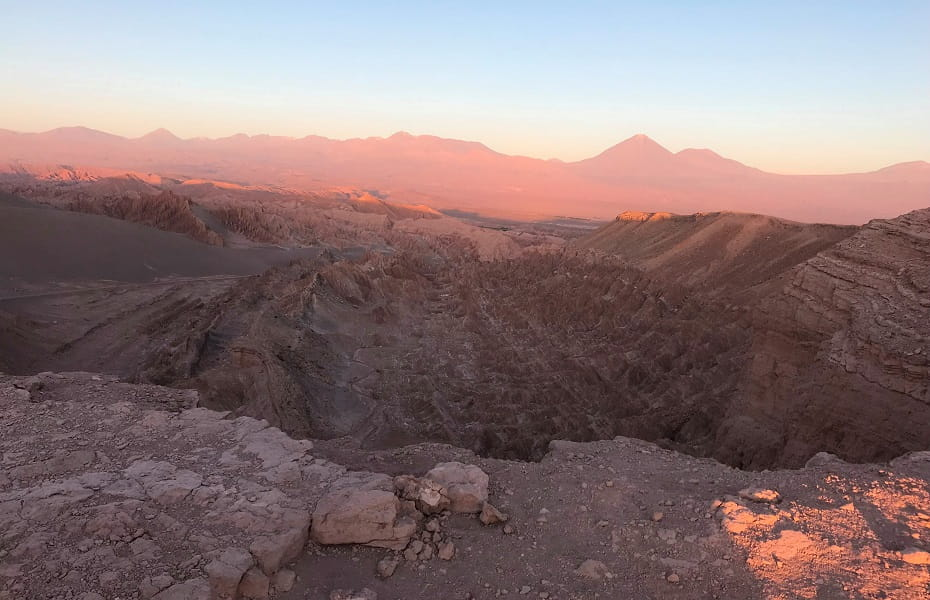 Туры в Чили. Закат над Лунной Долиной