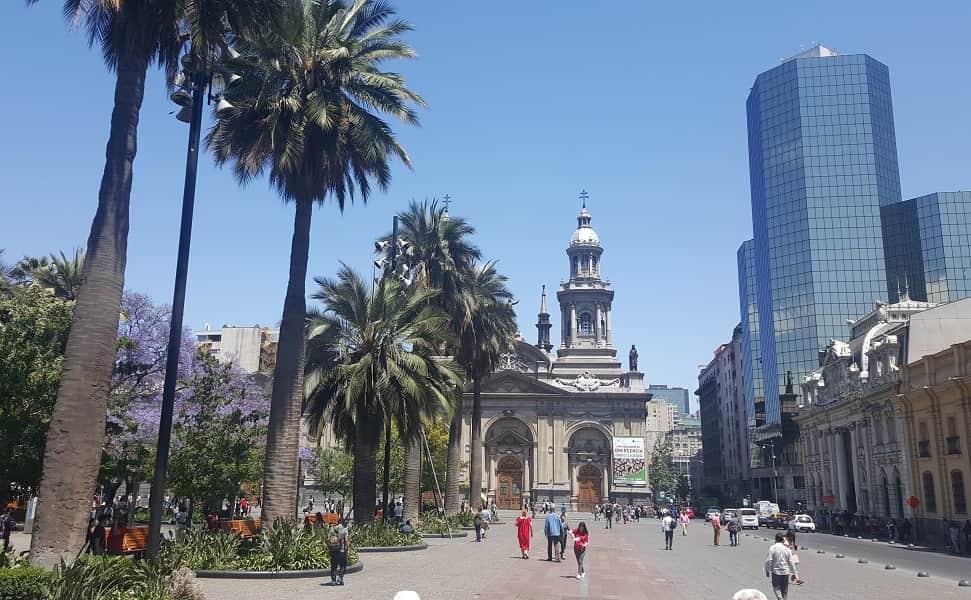 Отдых в Чили. Сантьяго центральная площадь