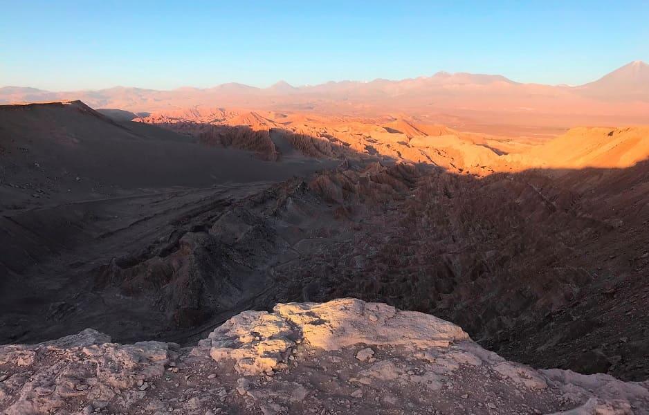Тур в Чили. Лунная долина. Закат
