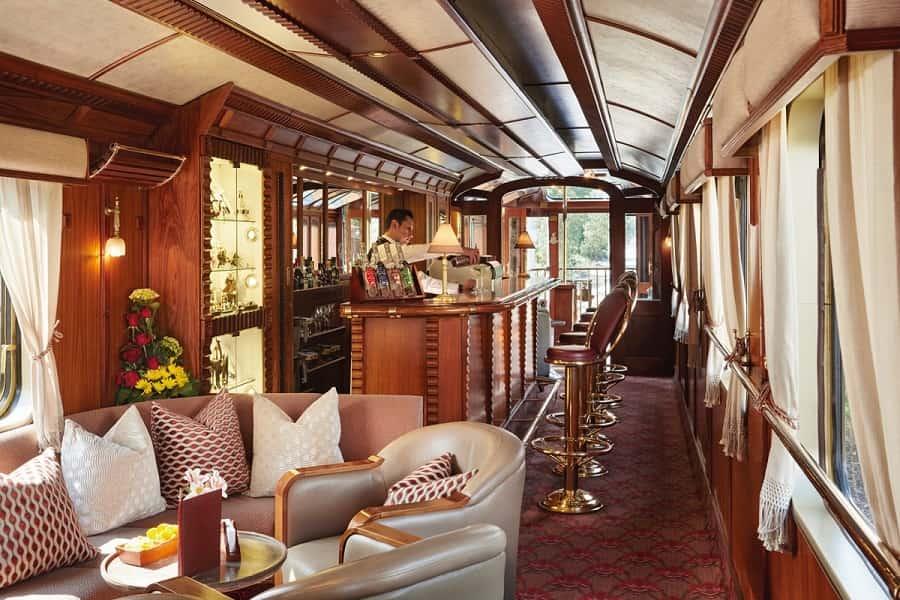 Туры в Перу. Вагон в Люкс поезде Hiram Bingham