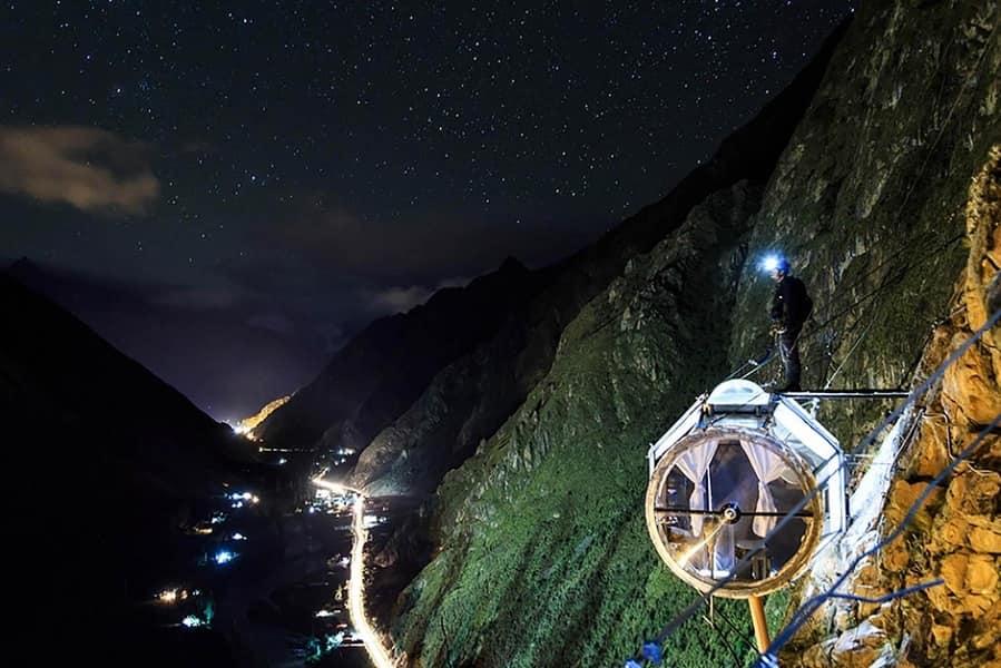 Тур в Перу. Гостиница Skylodge