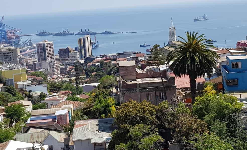 Тур в Чили. Вальпараисо. Панорама