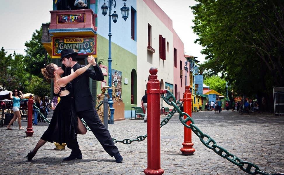 Туры в Аргентину. Буэнос Айрес. Уличное танго