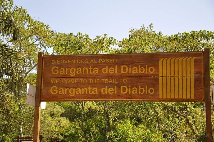 Туры в Аргентину. Игуасу. Табличка у водопада Глотка дьявола