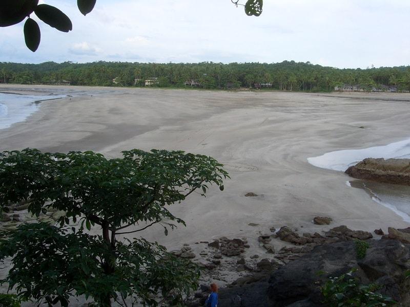Туры в Бирму. Пляж Нгве Саунг отлив