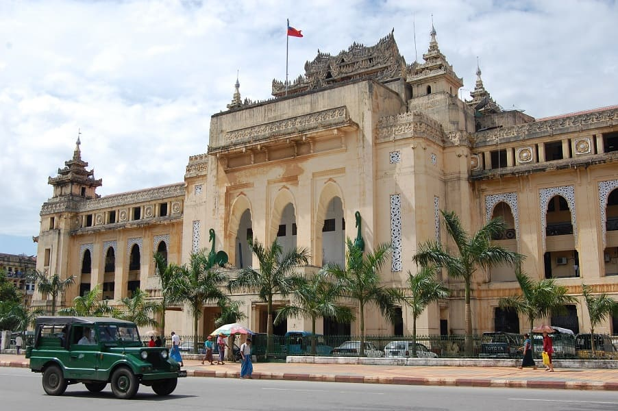 Туры в Бирму. Коллониальные здания в центре Янгона