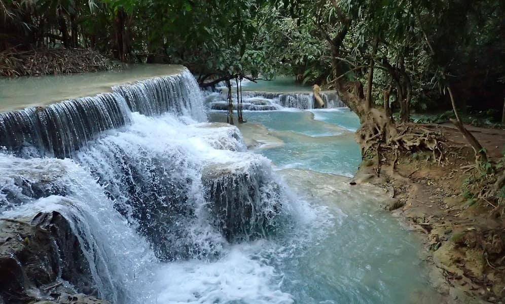 Туры в Лаос. Водопад Куанг Си фото