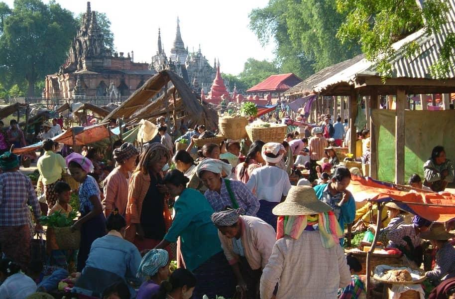 Туры в Мьянму. Баган. Рынок Ньяунг У