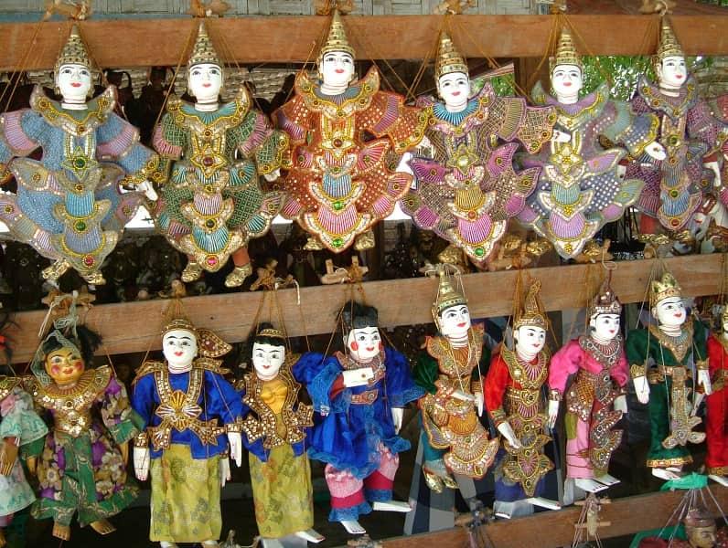 Туры в Мьянму. Бирманские куклы