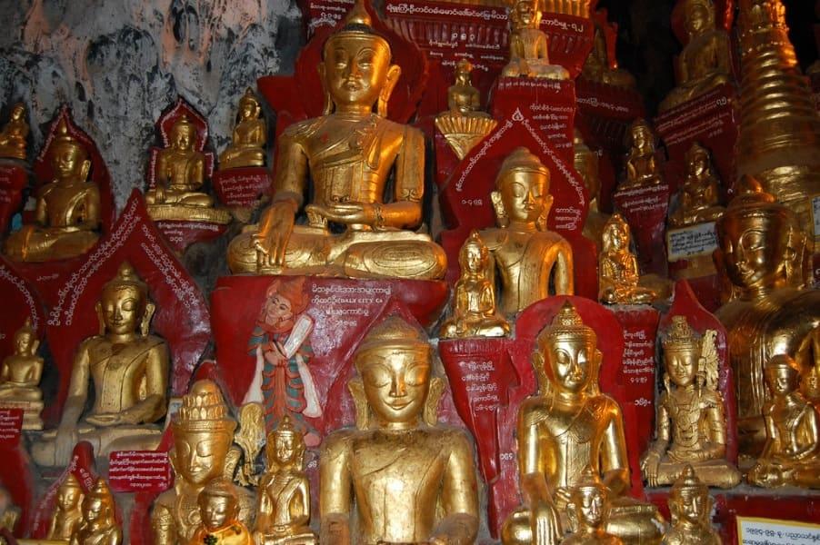 Туры в Мьянму. Пещера Пиндайя фото