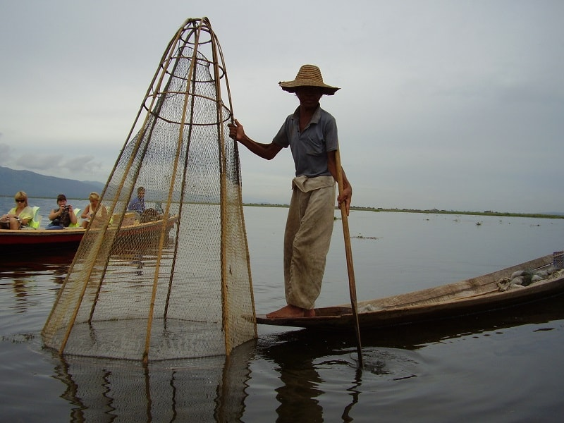 Туры в Мьянму. Рыбалка на озере Инле
