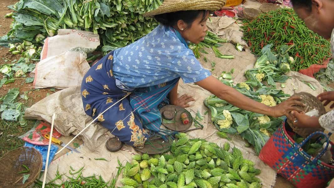 Туры в Мьянму. Местный рынок по дороге к озеру Инле