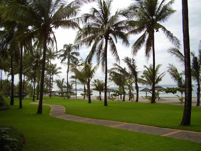 Туры в Мьянму. Территория отеля на пляже Нгве Саунг