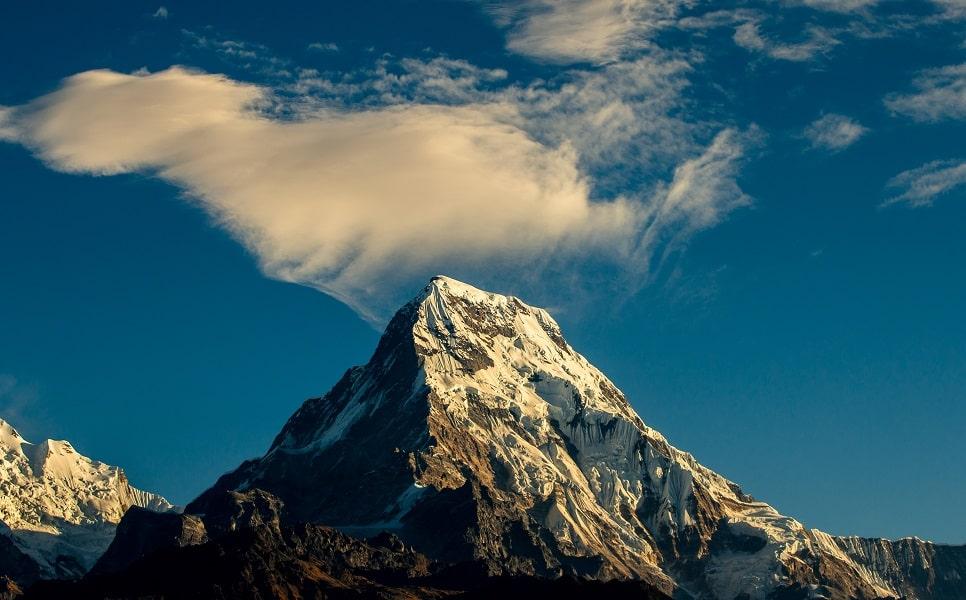 Туры в Непал. Аннапурна в лучах солнца