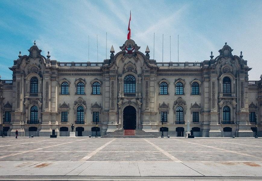 Город Лима. Здание на центральной площади Фото