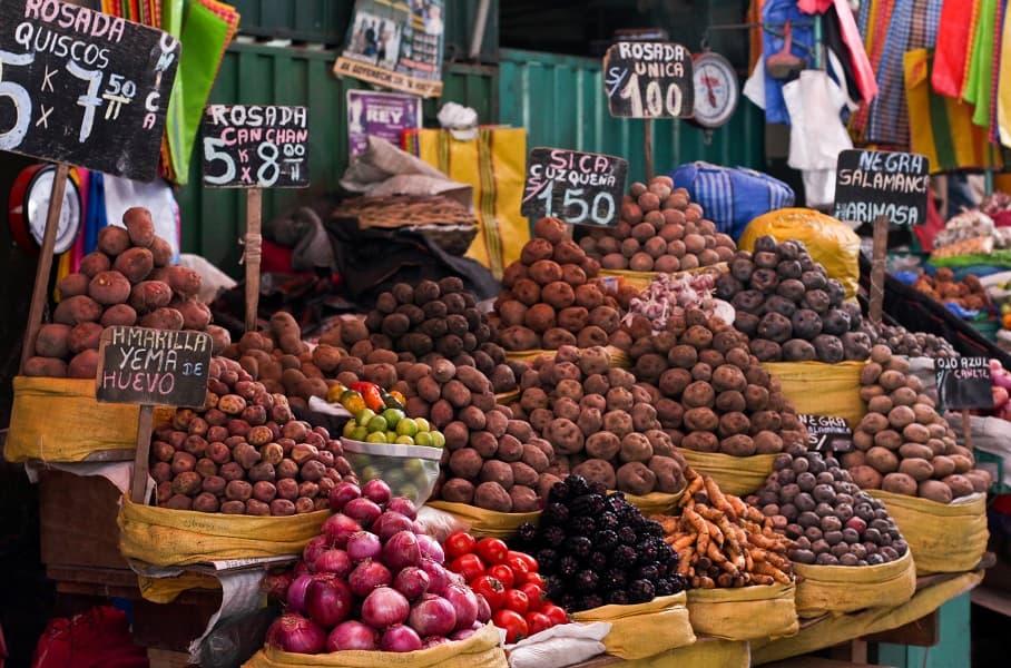 Перу овощной рынок фото
