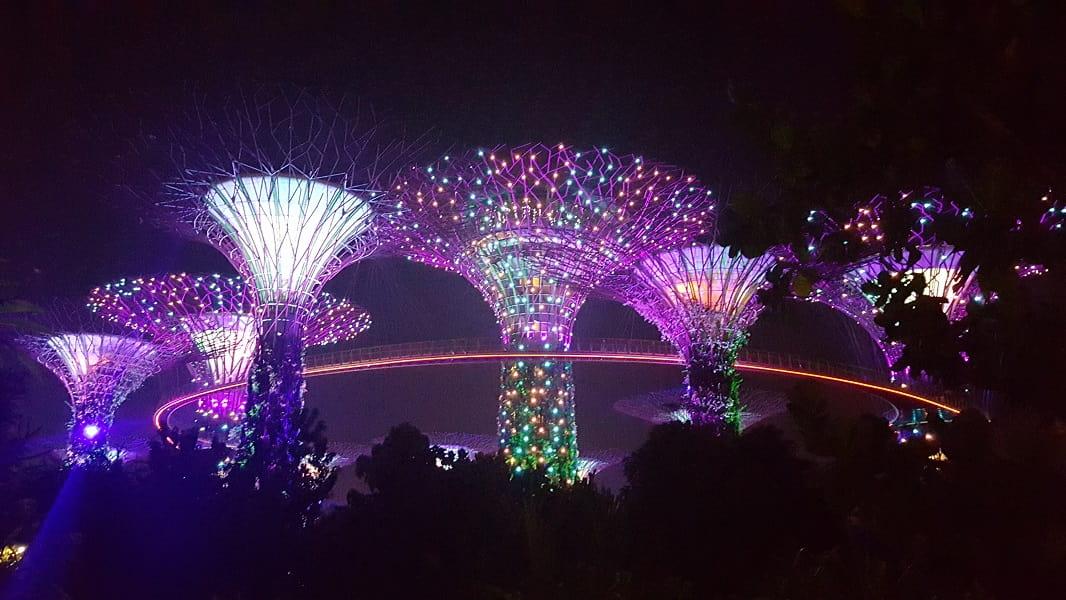Туры в Сингапур. Световое шоу в Грин гарденс