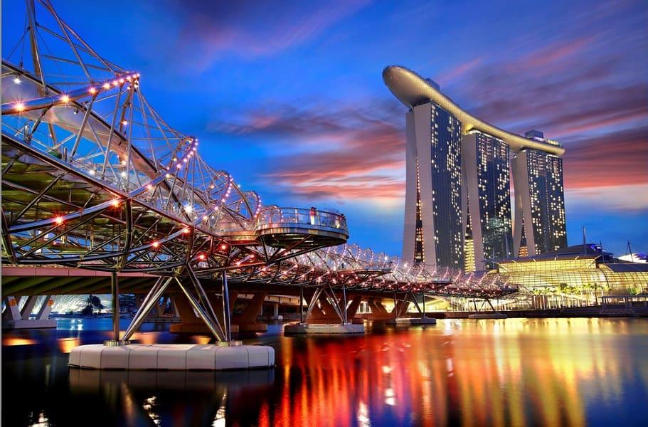 Туры в Сингапур. Вечерний Марина Бэй фото