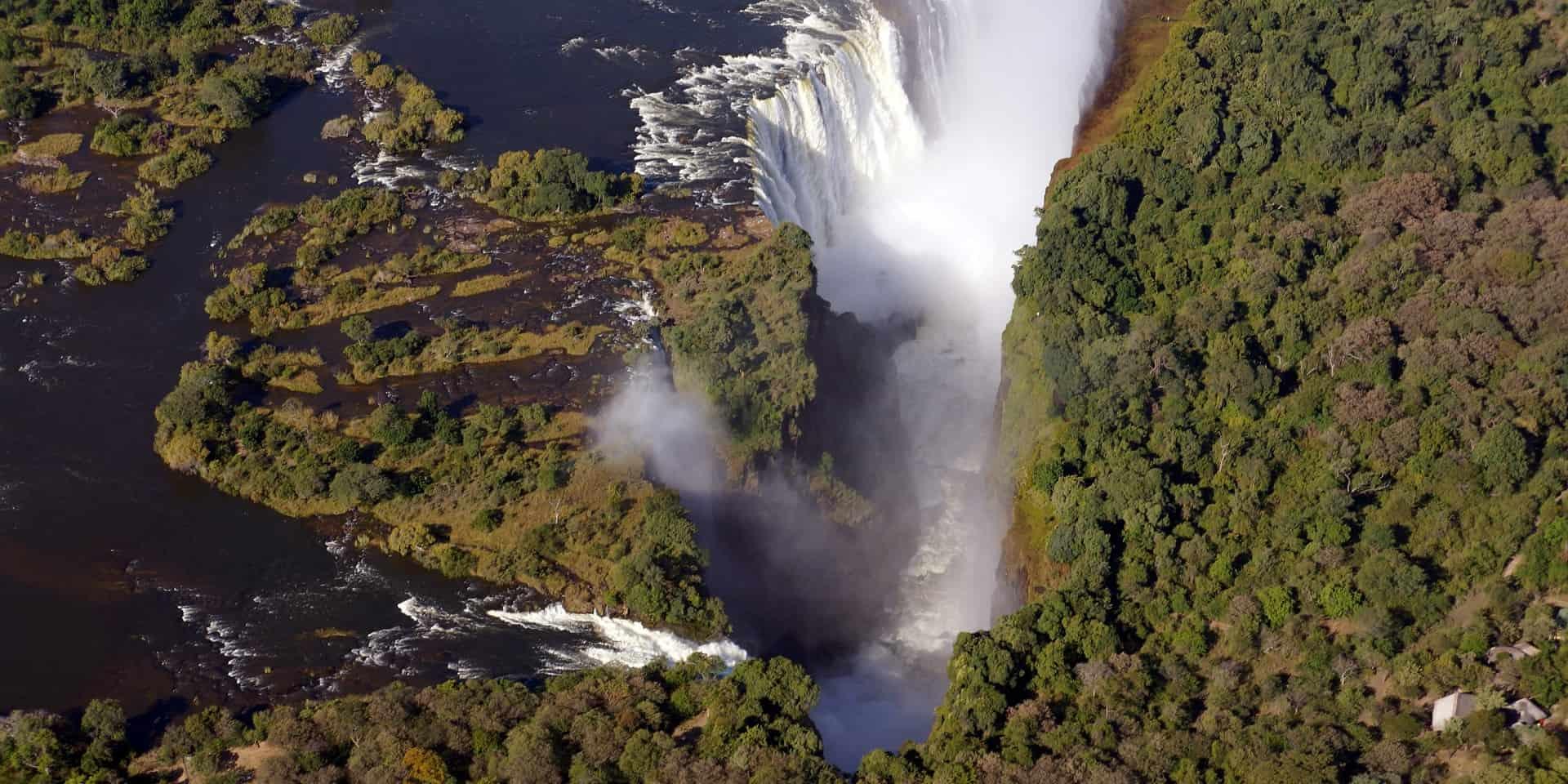 Туры в Замбия. Водопад Виктория. Вид с вертолета