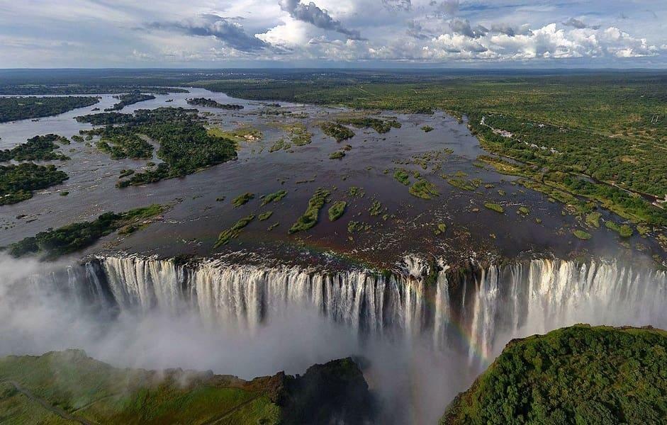 Туры в Зимбабве. Водопад Виктория фото с вертолета